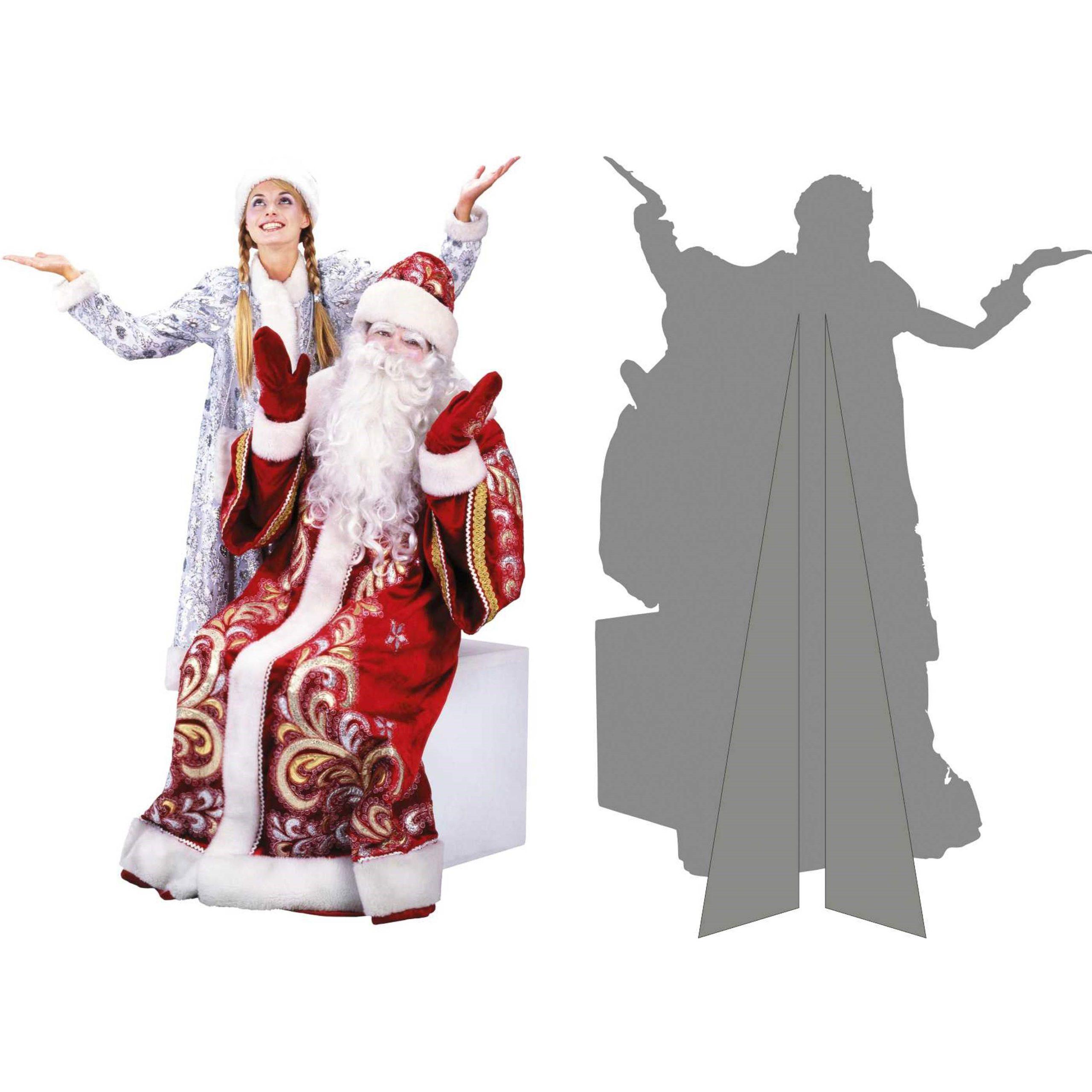Ростовая фигура дед мороз и Снегурочка   фото 4