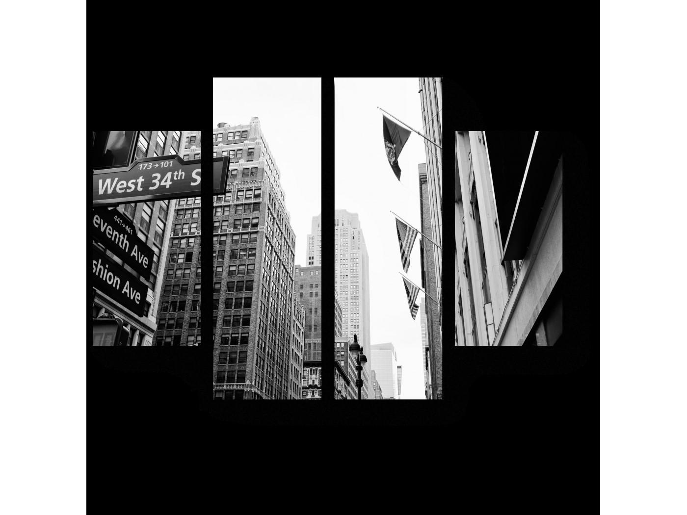 Черно-белая широкоформатная печать   фото 3