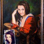 Широкоформатная печать на холсте портретов   фото 2