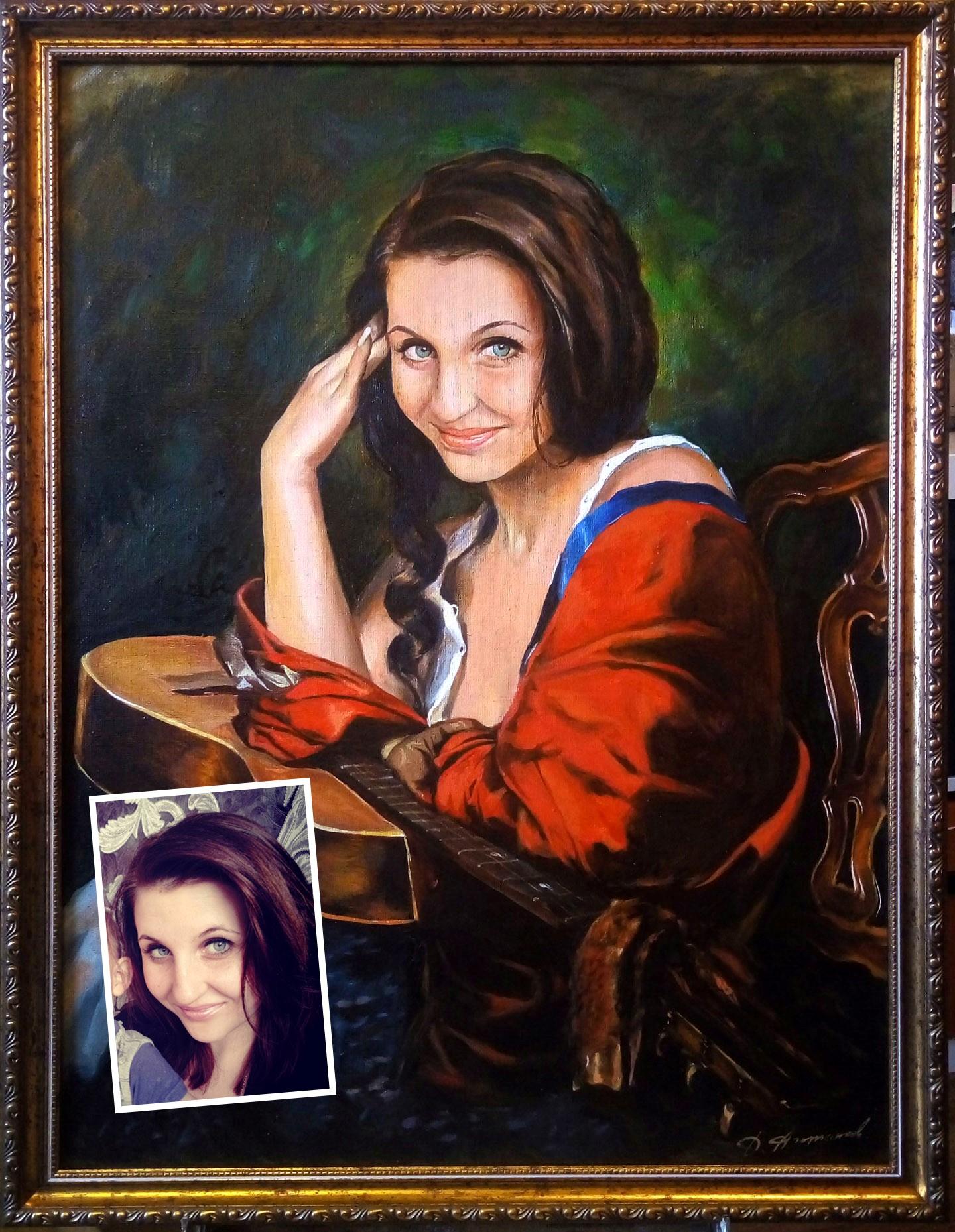 Широкоформатная печать на холсте портретов | фото 2